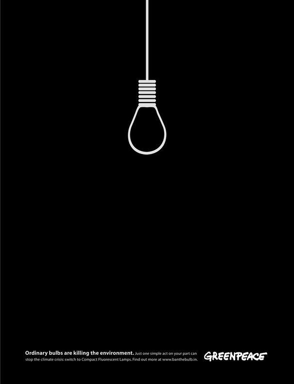 Greenpeace: las lámparas convencionales matan a al medio ambiente.
