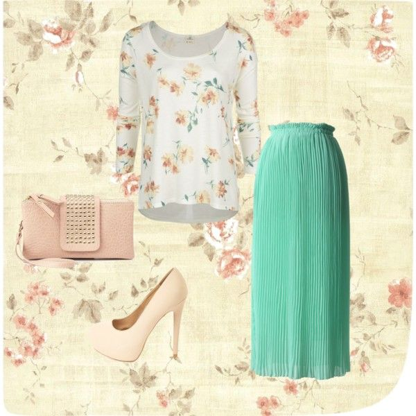 Modest floral outfit by apostolicgirl85 on Polyvore