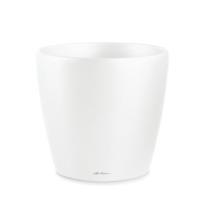 Lechuza Classico Round Premium 70 Resin Planter Gloss White - 14600