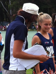 Armidale District Netball Association U/12 and U/13 representative squads travelled down to Grafton for their carnival on Sunday 25th March.  Ruby Van Den Hoek was the star player of the day...