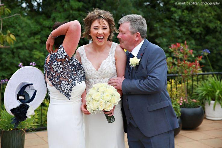 Bride with her parents wedding photographer sligo