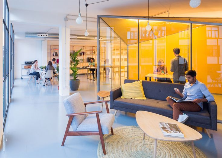 chelsea office space lounge. nook architects move into coworking space in barcelona chelsea office lounge