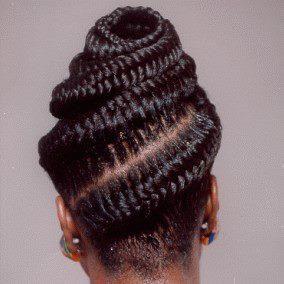 Fishtail Cornrows African Hair Pinterest Posts Updo