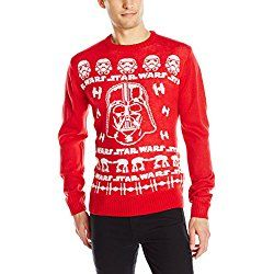 Ugly Christmas Sweater Star Wars Darth Vader Men's Red