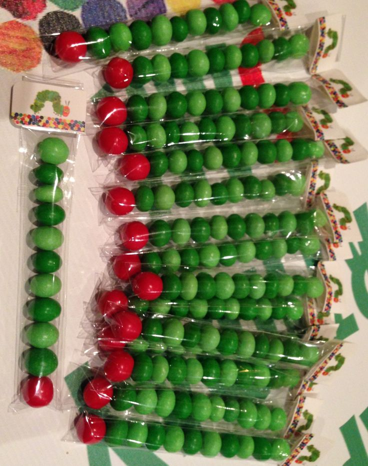 Very hungry caterpillar party favors