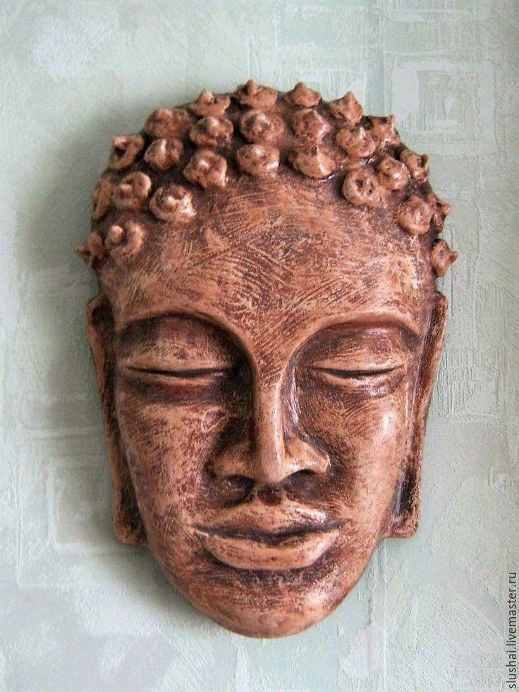 Купить Маска интерьерная - коричневый, маска, маска ручной работы, интерьерное украшение, интересный подарок