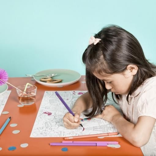Colour in place mats by OMY, made in France.  http://www.idreamelephants.com/omy-colourin-placemats-fantastic.ir