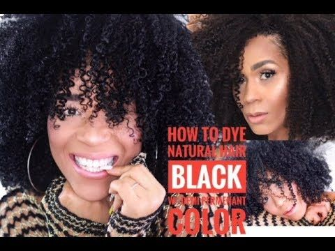 How To Dye Natural Hair Black | Demi Permanent Color |  Tia Kirby
