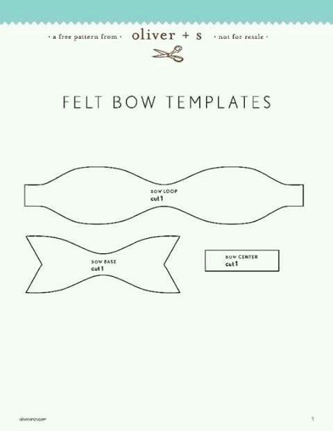 Hair Bow Template