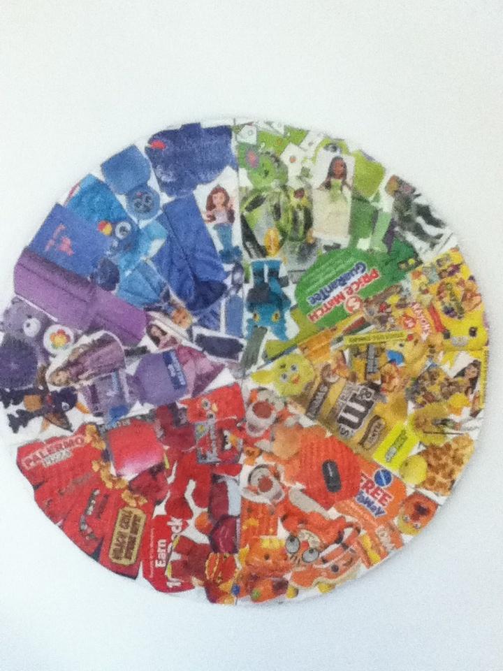 6th grade colorwheel magazine collage