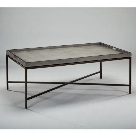 Occasional Furniture: STOCK COLLINS COFFEE TABLE - DOVE SHAGREEN