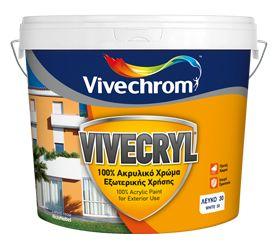 VIVECRYL @ Vivechrom  Aκρυλικό ματ χρώμα εξωτερικής χρήσης με εξαιρετικές αντοχές στις δυσμενείς καιρικές συνθήκες και μεγάλη διάρκεια ζωής.  #OtiXreiasteis @Χατζηχριστοφής