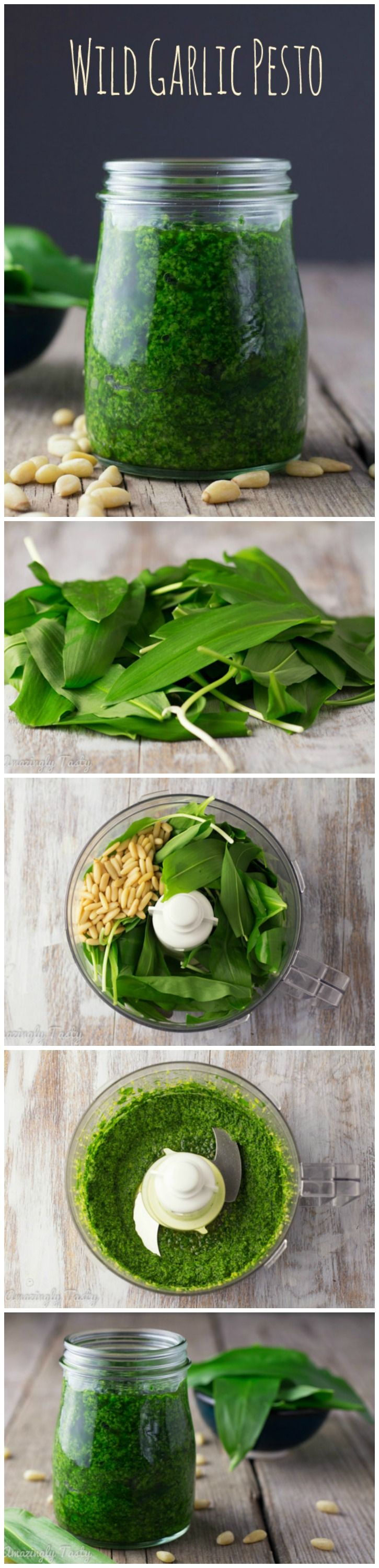 Healthy and delicious wild garlic pesto. It takes only a few minutes to make. You can use it as a pasta sauce, salad dressing, or bread spread.