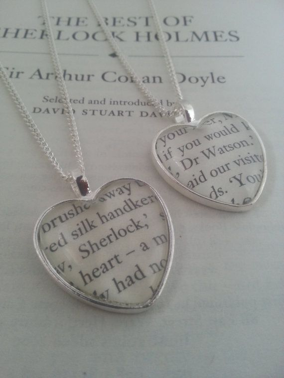 Sherlock, Marvel or any necklaces -except no Sherlock book lockets!