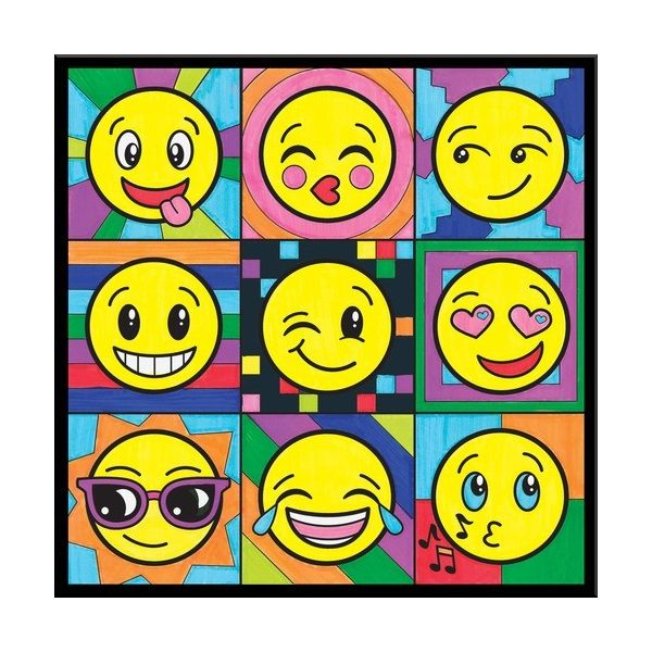 Color By Number Emoji Pop Art 14308 Middleschool