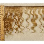 mohair weft coarse light golden blonde 22 wavy weft 7-9×200″ 90-100g 25632 FP