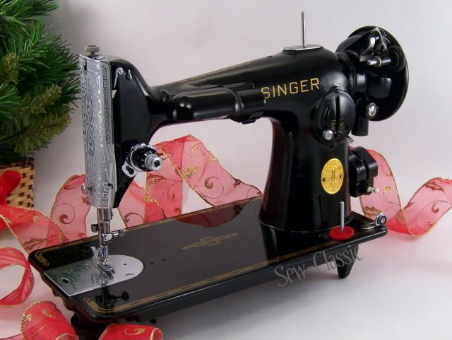 Classic Singer 201-2 Vintage Sewing Machine.  Be still my beating heart - she will be here in a couple of weeks...