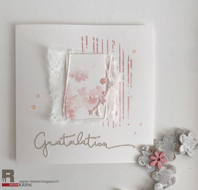 Papierliebelei: Gratulation in zartrosa