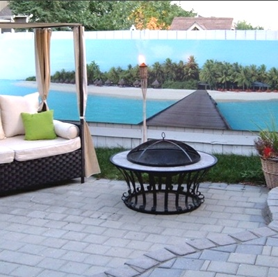 Another Photo Mural On Blank Wall But Certainly Gives The Tropical Feeling.  Backyard IdeasOutdoor ... Part 31