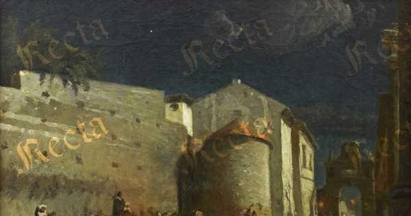 Olio su tela  70cm x 93cm  ♦  Recta Galleria d'arte -  Roma - Pittori e dipinti dell'ottocento e novecento, arte e scultura 800 e primo 900