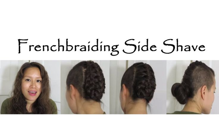 braiding hair with side shave.