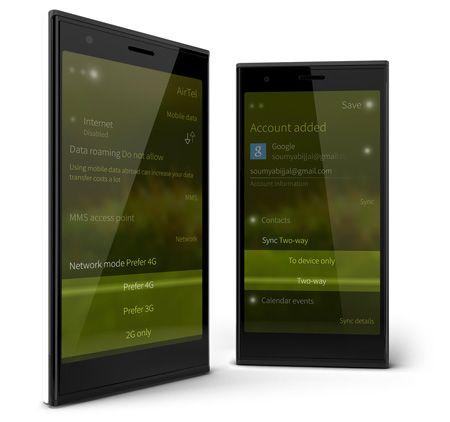 Jolla - mobil med ett nytt användargränssnitt