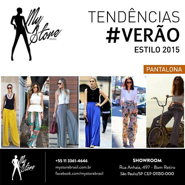 As pantalonas estão com tudo nesse verão 2015! #mystorebrasil #tendencias #verao