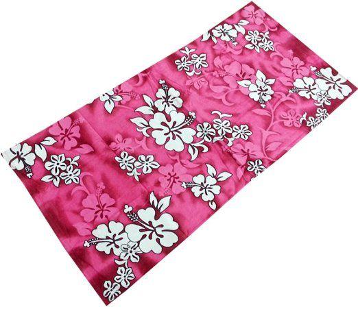 "Amazon.com - Hot Pink Hibiscus Flowers Reactive Beach Towel 30"" X 60"" - Beach Towels Clearance"