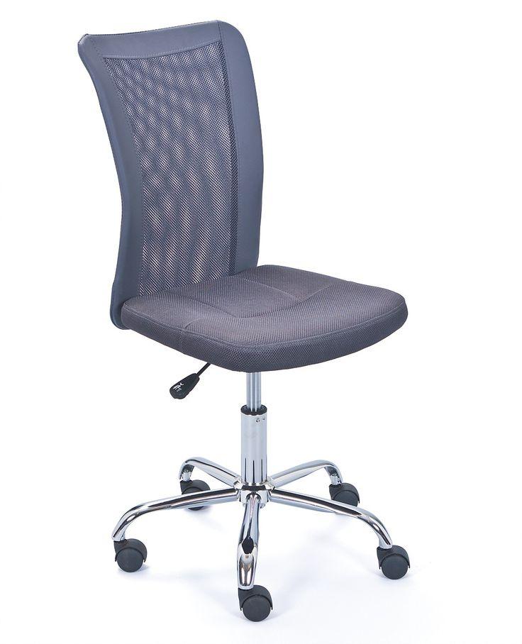 Bureaustoel Eva van het merk Interlink - Polyester bekleding / Totale hoogte: 88 tot 98 cm (verstelbaar)