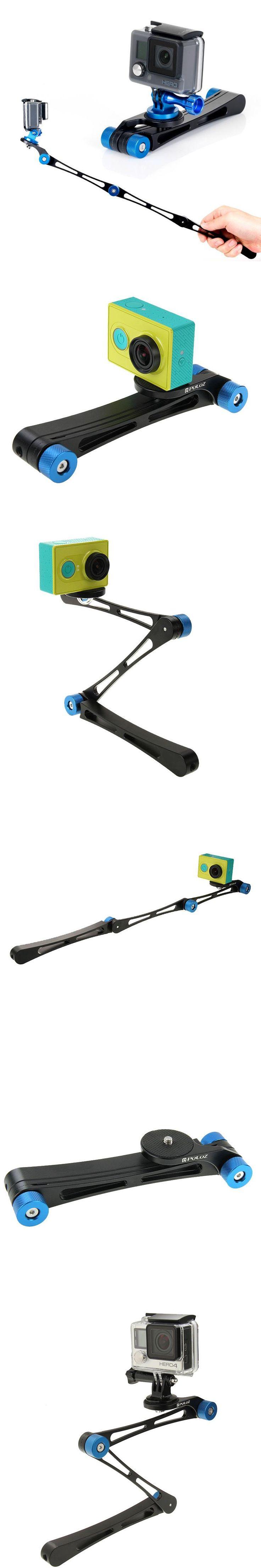 2017 Newest 3 Way Folding Selfie Stick Portable Mini Monopod Stabilizer Grip for GoPro Hero 5 4 3 2 1 xiaomi yi 4K SJ4000