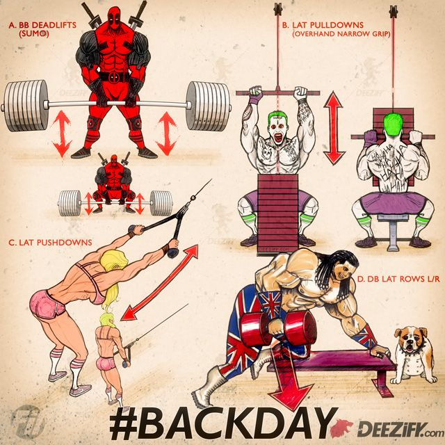 Free Back Workout Program with deadpool, the joker