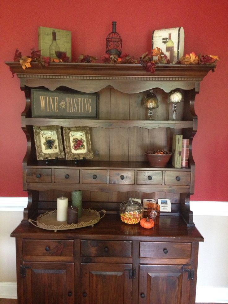 Hutch decorated for Fall