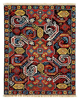 Kazak Karabagh Embroiders Design - Size: 195 x 150 cm