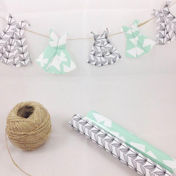 Maak zelf deze origami jurkjes, met video uitleg   www.metdehand.nl