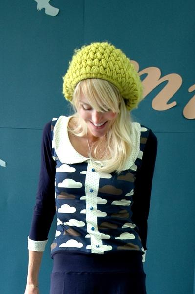 Bonnie & Buttermilk  beret: Clouds Sweaters, Buttermilk Beret, Buttermilk Gah, Crochet Hats, Buttermilk Clouds, Bonnie Buttermilk, Puff Stitches, Clouds Tops, Bonnies Hats
