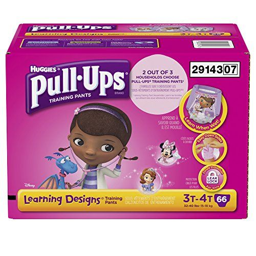 Pull-Ups Training Pants with Learning Designs for Girls, 3T-4T, 66 Count (Packaging May Vary) Pull-Ups Training Pants with Learning Designs for Girls, 3T-4T, 66 Count (Packaging May Vary) Huggies® Pull-Ups® Brand Learning Designs® Disney 3T-4T Training Pants. Design fades when wet! 32-40 lbs. 15-18 kg. Training pants. http://www.babystoreshop.com/pull-ups-training-pants-with-learning-designs-for-girls-3t-4t-66-count-packaging-may-vary/
