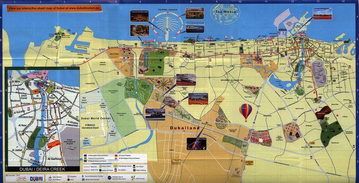 https://flic.kr/p/sz5uLx | Dubai Map 2014_2, UAE | tourism travel brochure | by worldtravellib World Travel library