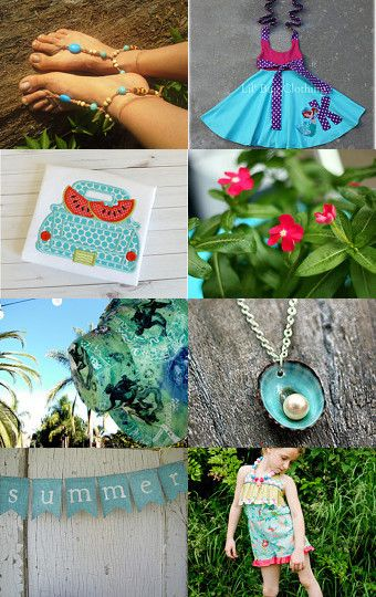 Yay it's summer!!! by Marzena on Etsy--Pinned with TreasuryPin.com