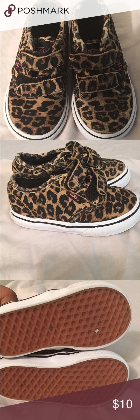 Toddler leopard Vans Great condition very trendy. Vans Shoes Sneakers