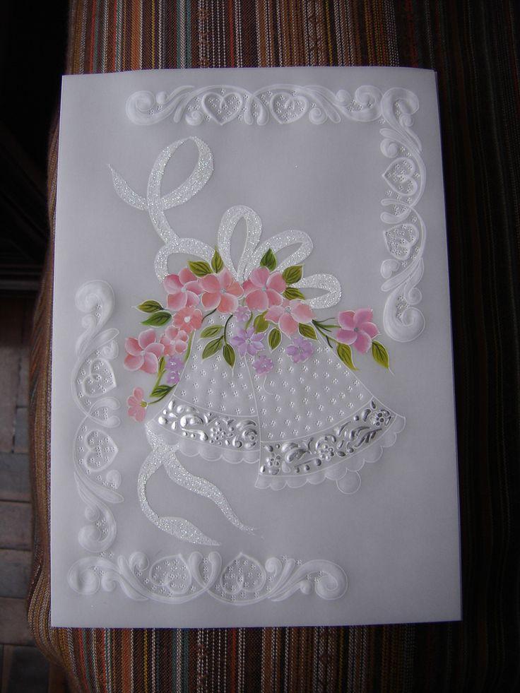 Parte de matrimonio pintado con acrilico