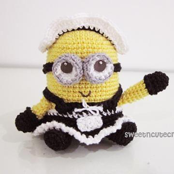 French Maiden Minion amigurumi crochet pattern