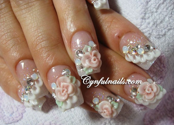 Best 25 Bridal Nail Art Ideas Only On Pinterest