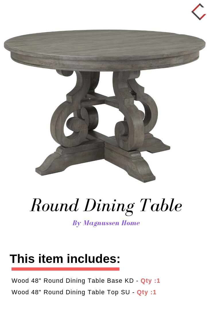 Magnussen Home Tinley Park Dovetail Grey 48 Inch Round Dining