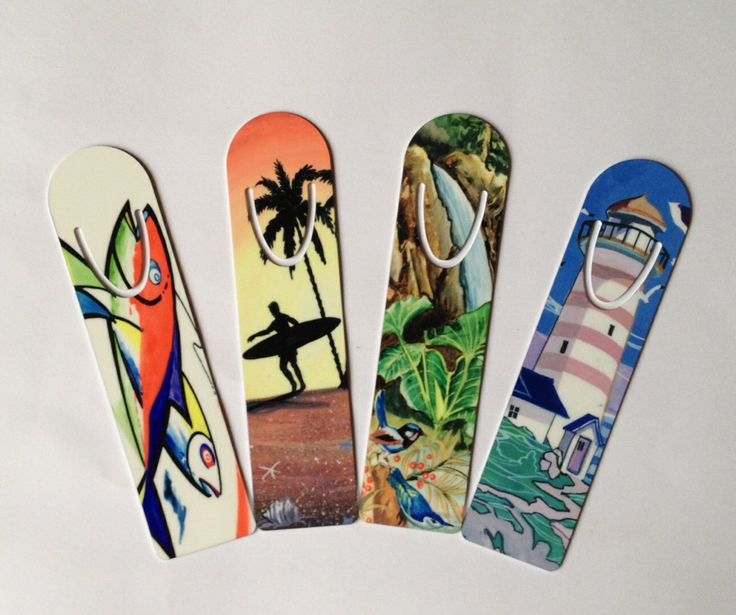 Bookmarks displaying various art works.