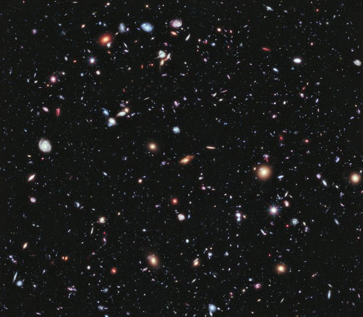 An undated handout picture by NASA/ESA shows around 5,500 galaxies seen through the Hubble telescope. The time exposure titled 'Hubble extreme Deep Field' (XDF reveals galaxies up to 13.2 billion light-years from earth. Photo: NASA/ESA/G. Illingworth/D. Magee/P. Oesch/R. Bouwens/HUDF09 Team via @AOL_Lifestyle Read more: http://www.aol.com/article/news/2016/10/14/astronomers-may-now-fully-understand-why-the-sky-is-dark-at-nigh/21582286/?a_dgi=aolshare_pinterest#fullscreen