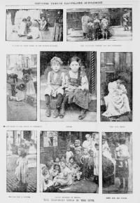 "The New-York Tribune newspaper, July 22nd, c.1900. A set of illustrative photographs, that show the abysmal living conditions (during the summer), of children on the Lower East Side, of Manhattan, during America's Gilded Age era. Captioned: ""The Tenement Child In The City"". ~ {cwlyons} ~ (Image: LOC)"