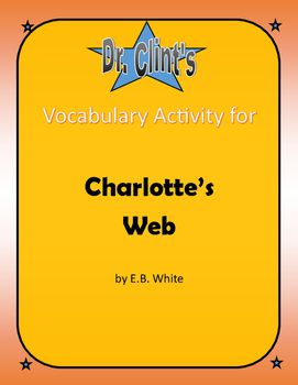 """This is a vocabulary matching activity for """"Charlotte's Web"""" by E. B. White. Vocabulary words are split up into four sections, 10 words in each section. (Ch 1-5, 6-10, 11-15, 16-22). This vocabulary activity is designed to be flexible.Option 1: Have students match the picture and definition with the word as a review or preview of new vocabulary.Option 2: Have students find definitions and match the picture, or Google their own picture to match each word.Option 3: Use your professional…"""