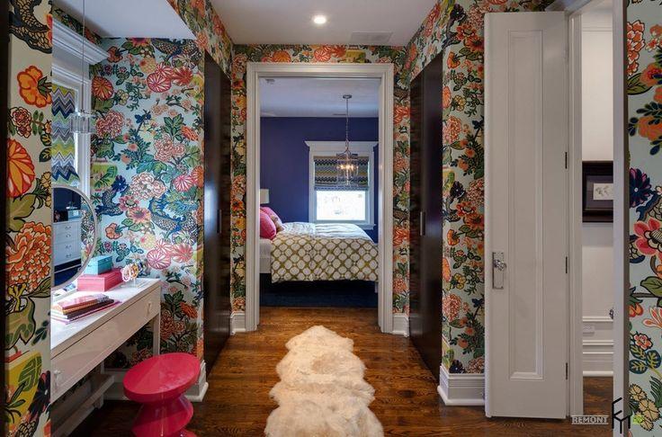 100 идей дизайна: обои в спальне | Варианты отделки стен обоями на фото