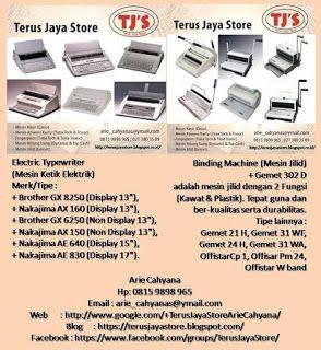 TERUS JAYA STORE - OFFICE/BUSINESS EQUIPMENT (PERALATAN KANTOR/USAHA): Lengkapi & Sempurnakan Dokumen Usaha dengan Mesin ...