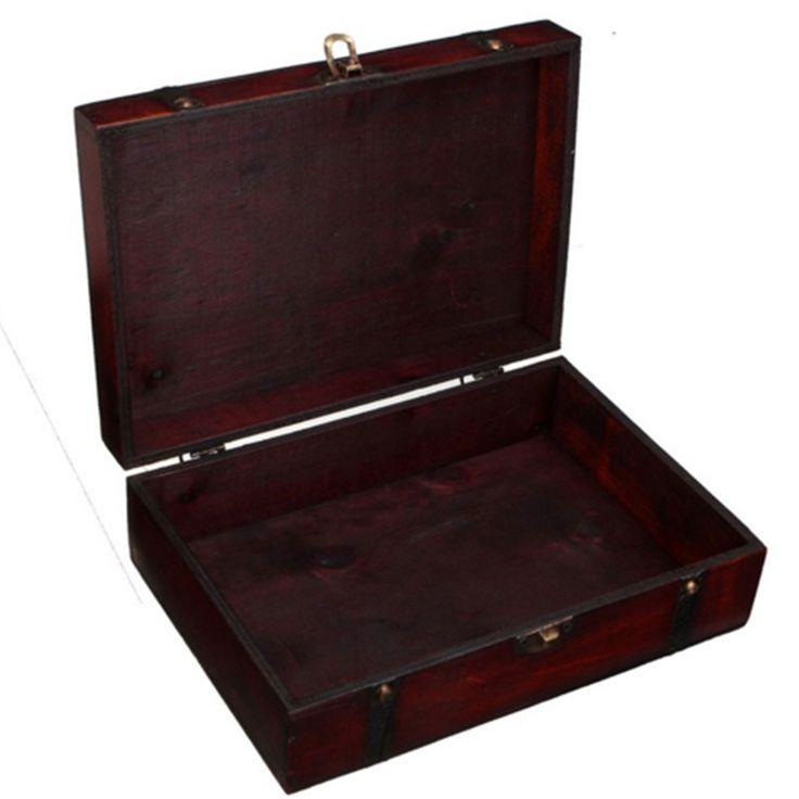 Ювелирные изделия ретро металл хранения деревянный ящик, блокировка/Китайский антикварные ювелирные изделия деревянные управления ретро конфеты контейнер